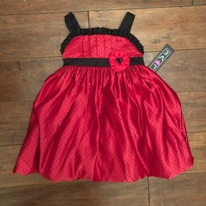 Other - Red and Black Polka-dot Formal Dress Size 2T
